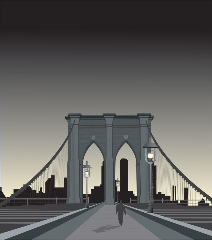 BrooklynBridgeIllustration AdobeIllustrator
