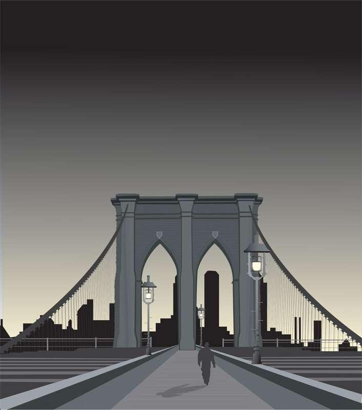 BrooklynBridgeIllustration AdobeIllustrator