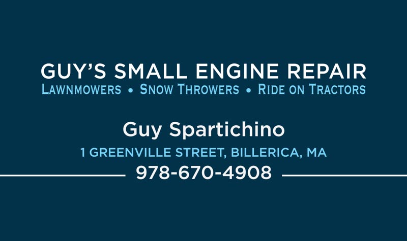 Guy Small Engine business card