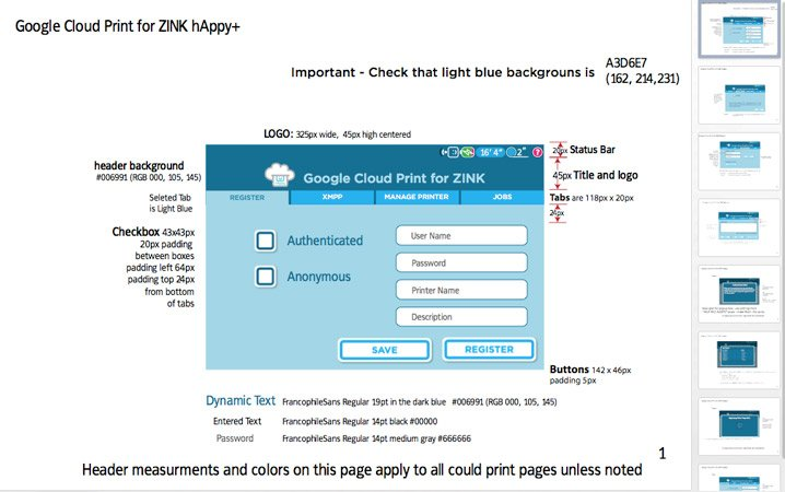 Cloud Print for ZINK hAppy+