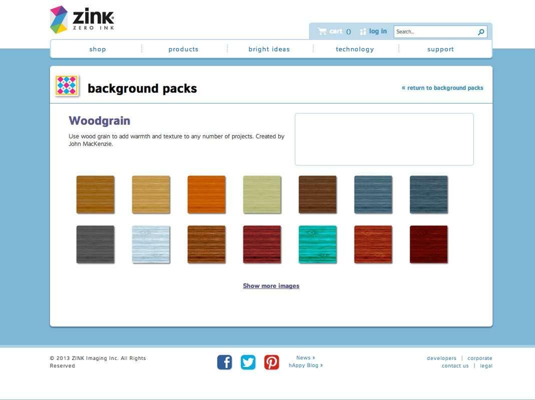Woodgrain Illustrations ZINK Design & Print Studio